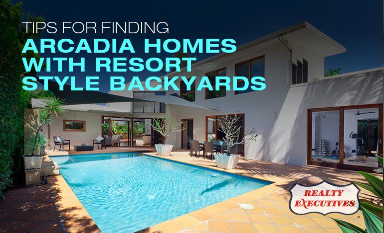 Resort Style Backyards in Arcadia Homes